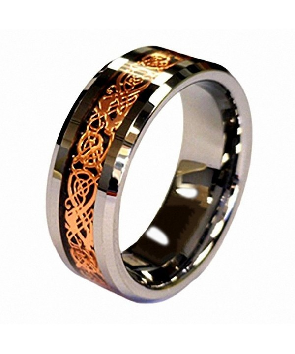 Plated Celtic Tungsten Carbide Wedding