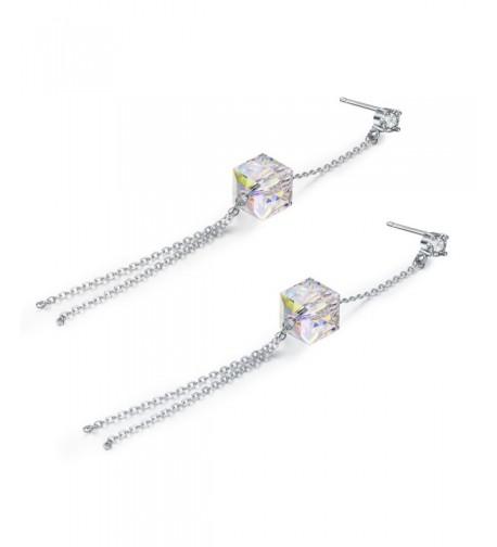 SBLING Platinum Plated Earrings Swarovski Crystals
