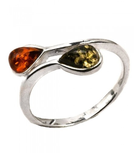 Sterling Silver Multicolor Amber Sliding