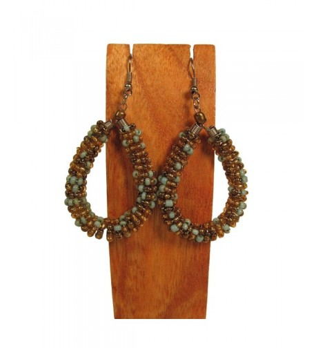 Handmade Crochet Dangle Earring Turquoise