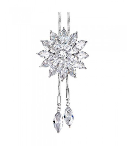 Crystal Necklace Snowflakes Pendant Decorations
