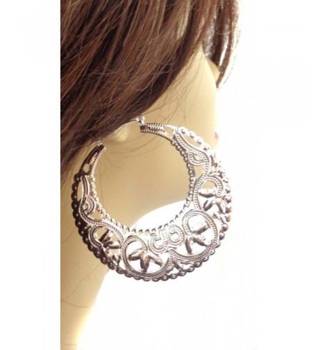 Earrings Filigree Puffed Silver silver