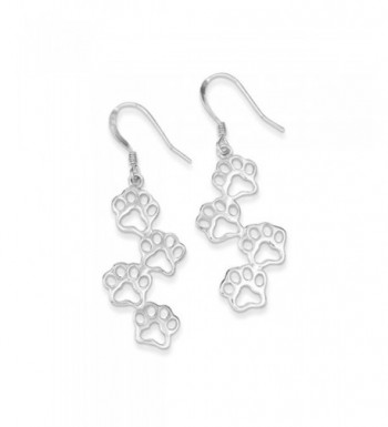 Polished Prints Dangle Earrings Sterling