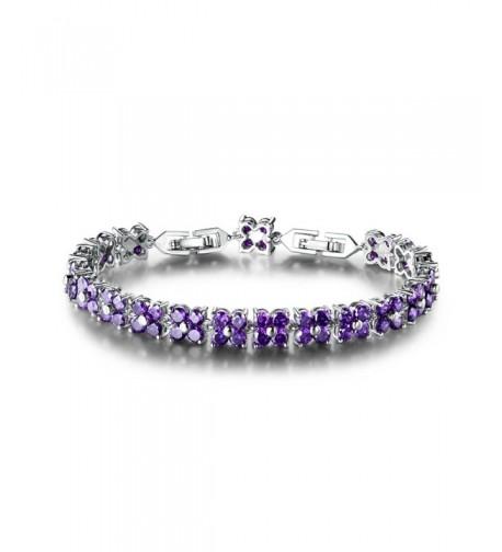 GULICX Plated Zirconia Crystal Bracelet