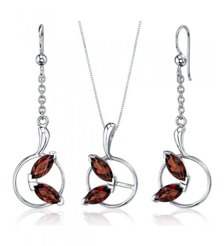 Ornate Sterling Rhodium Pendant Earrings