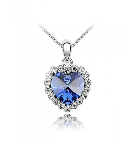 Sparkling Blue Colored Clear Neckace