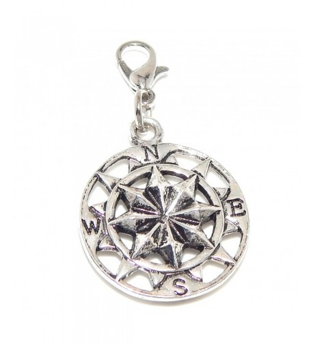 Jewelry Monster Clip Compass Charm