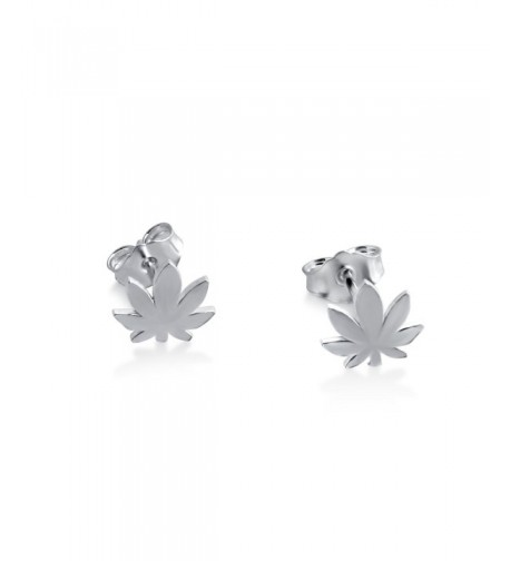 Azaggi Sterling Handcrafted Cannabis Earrings