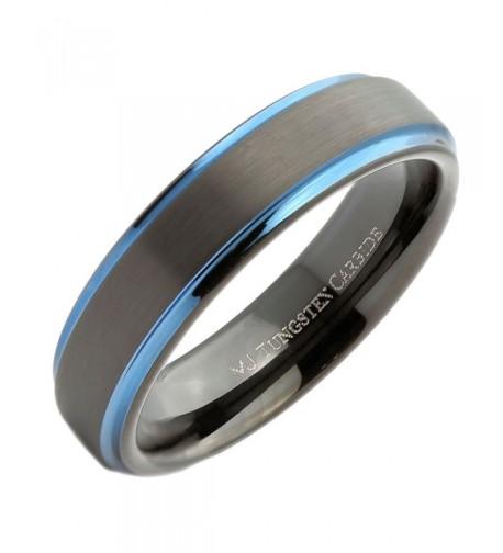 MJ Plated Tungsten Carbide Wedding