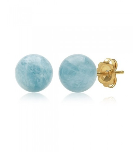 Yellow Natural Aquamarine Gemstone Earrings