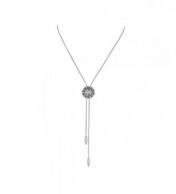 Antique Pendant Necklace Adjustable White