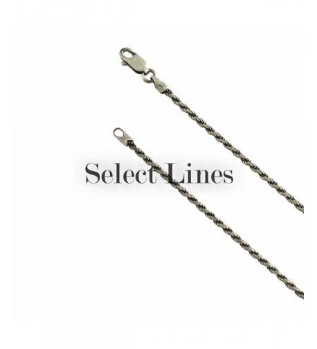 Sterling Silver Gunmetal Necklace Italian