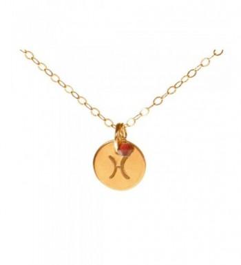 Pisces Necklace Filled Simple Zodiac