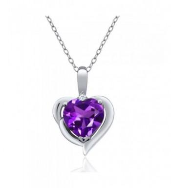Purple Amethyst Sterling Silver Pendant