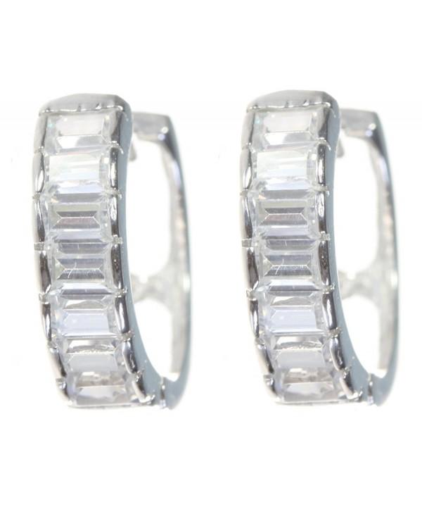 Elegant Sterling Silver Earrings Zirconia