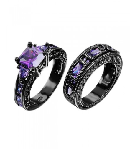 European Amethyst Pieces Promise Couples