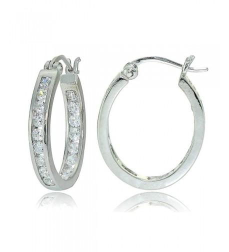 Sterling Zirconia Channel Set Inside Out Earrings