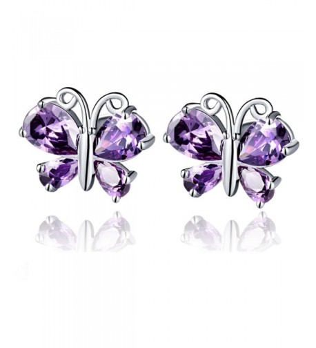YLR Plated Jewelry Butterfly Earrings