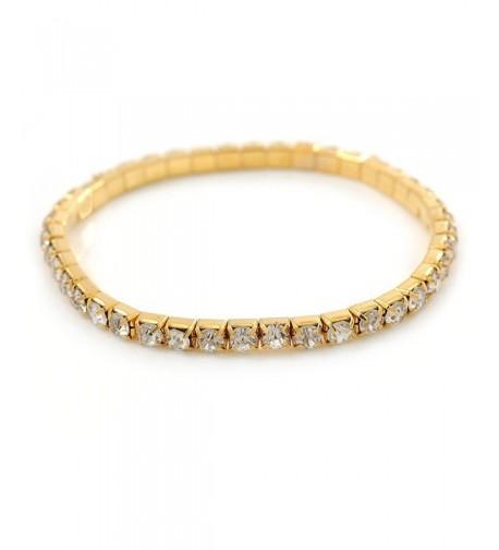 Clear Crystal Delicate Stretch Bracelet