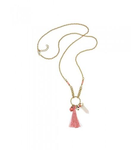 Pendant Necklace Quartz Tassel Thornless