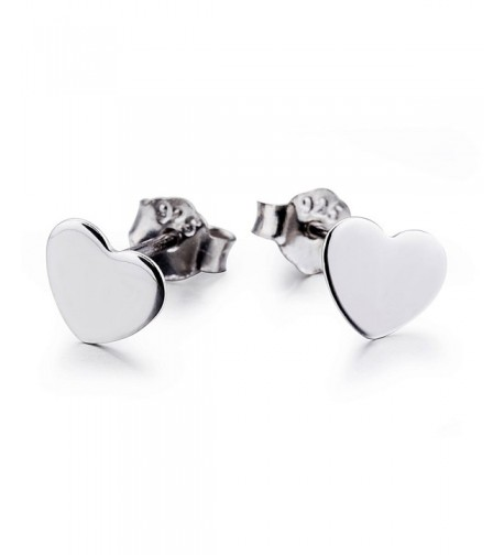 Sterling Silver Heart Earrings Women