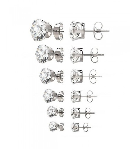 womens Surgical stainless Zirconia earrings