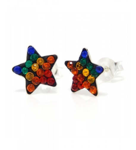 Pro Jewelry Sterling Multicolor Earrings
