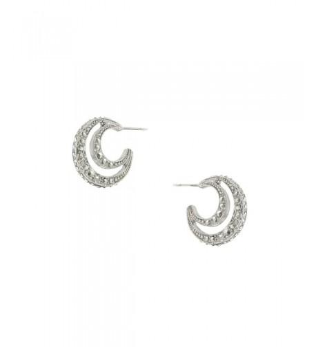 1928 Jewelry Stardust Silver Tone Crescent