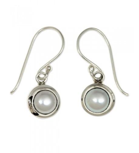 NOVICA Cultured Freshwater Sterling Earrings
