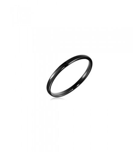 Black Domed Tungsten Wedding Band 5 0