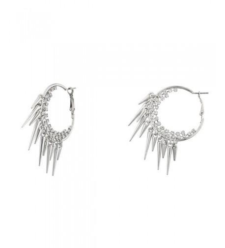Lux Accessories Silvertone Cupchain Earrings