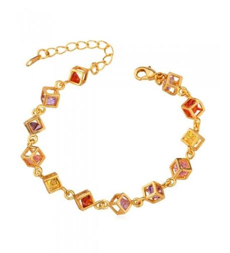 U7 Plated Colorful Zirconia Bracelet