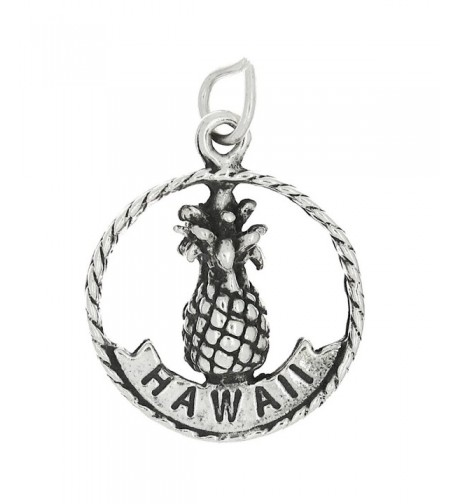Sterling Silver Oxidized Double Pineapple