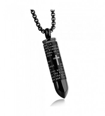 Engraved English Stainless Memorial Necklace