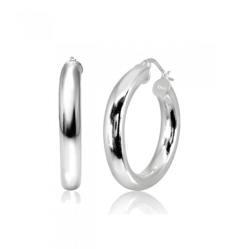 LOVVE Sterling Polished Round Tube Click Top