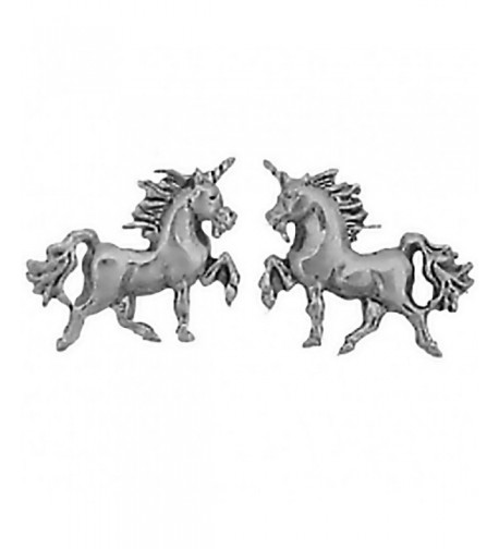 Sterling Silver Unicorn Earrings Stainless