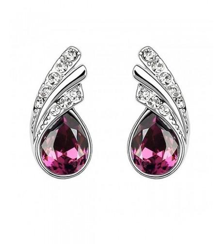 Teardrop Swarovski Element Crystal Earrings