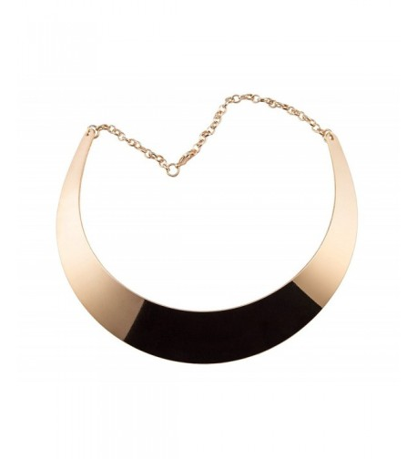 Chunky Choker Plated Statement Necklace