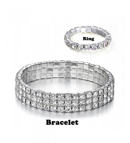 Yumei Jewelry Bracelet Silver tone Sparkling