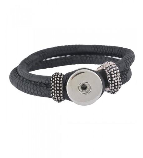 Souarts Artifical Leather Bracelet Buttons