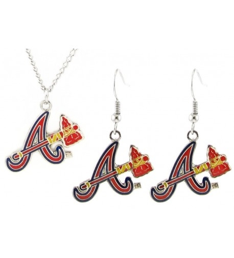 Atlanta Braves Earrings Pendant Necklace