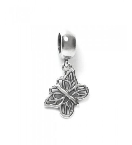 Sterling Filigree Butterfly European Bracelets