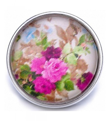 Antique Roses Ginger Snap Button