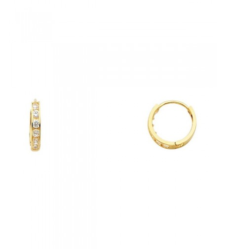 Yellow Thickness Channel Huggie Earrings