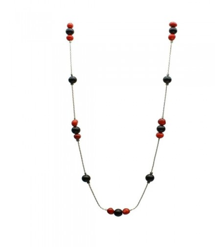 Black Bamboo Sterling Silver Necklace