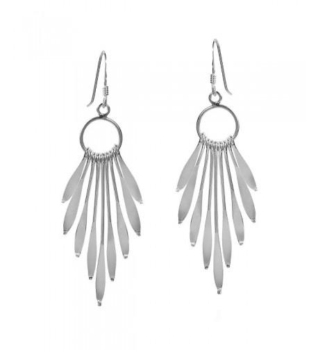 Sparkling Sticks Chandelier Sterling Earrings