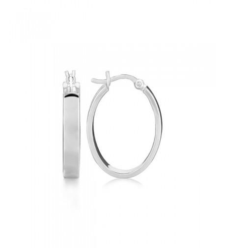 Sterling Silver Earrings Rhodium Plating