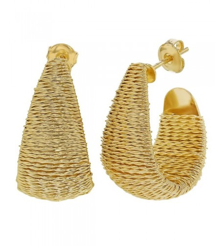 Plated Wrapped Braided Earrings Fashion
