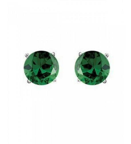 Green Zirconia Sterling Silver Earrings