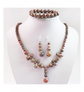 Fashion Gemstone Necklace Earrings Bracelet